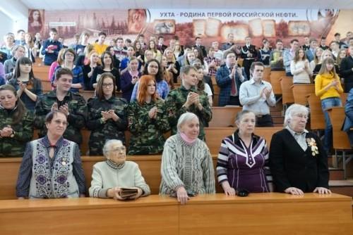 «Ухта – родина первой российской нефти». Проект представлен в одной из крупнейших поточных аудиторий УГТУ.