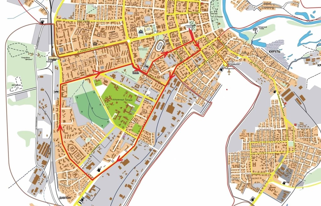 Маршрут Велоночи на 12.06.2015