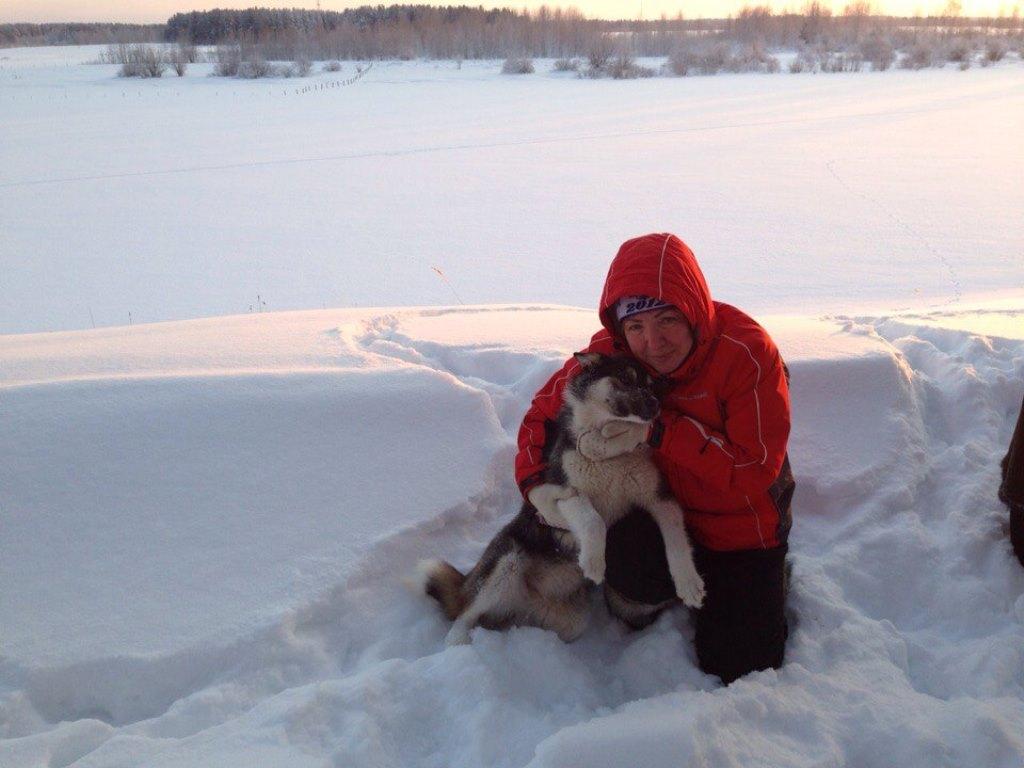 Дорофеева с собакой