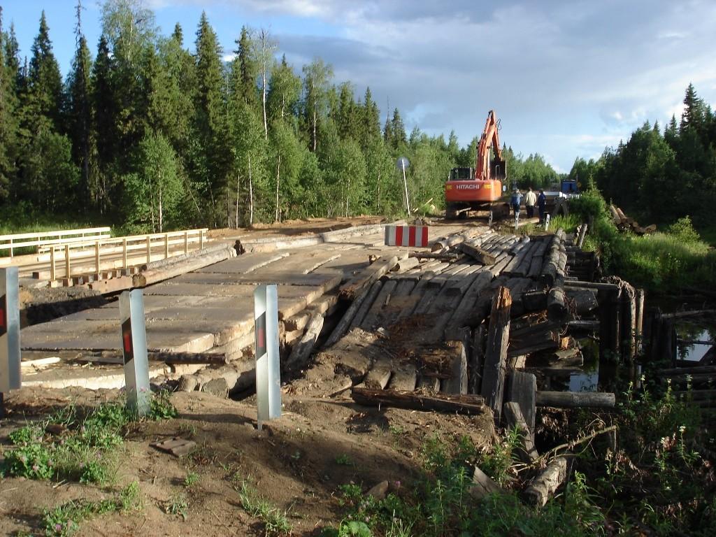 Хоть некоторые жители Удоры и не верят в то, что планы по сносу старых и строительству новых мостов реализуются, но такая работа уже начата.