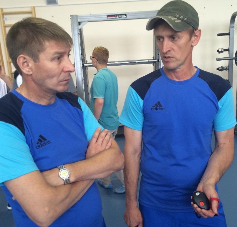 Старший тренер Александр Мальцев  и главный – Николай Зыкин.