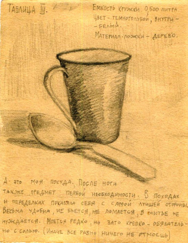 Рисунок Всеволода Городецкого. Воркута. 1940-е годы.