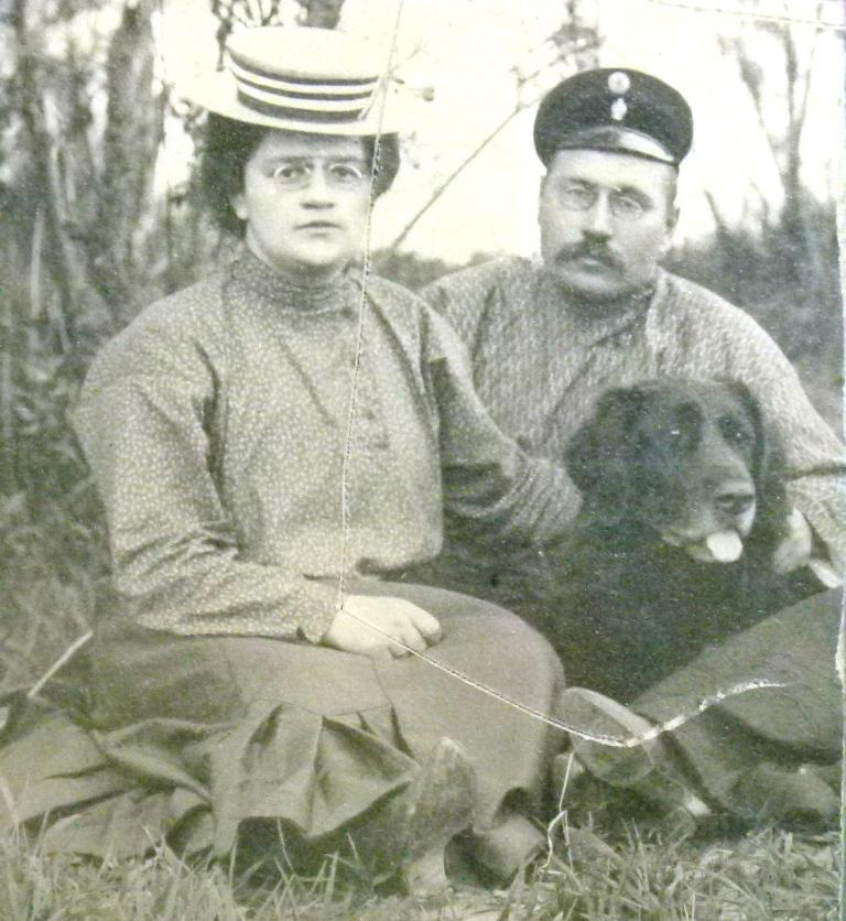 Вера и Николай Городецкие. Усть-Сысольск. 1920-е годы.