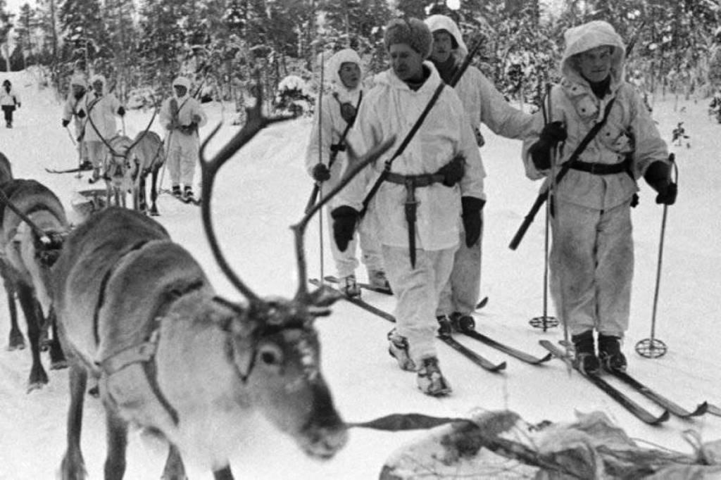 В финской армии оленей использовали еще во время советско-финляндской войны. Зима 1940 года.