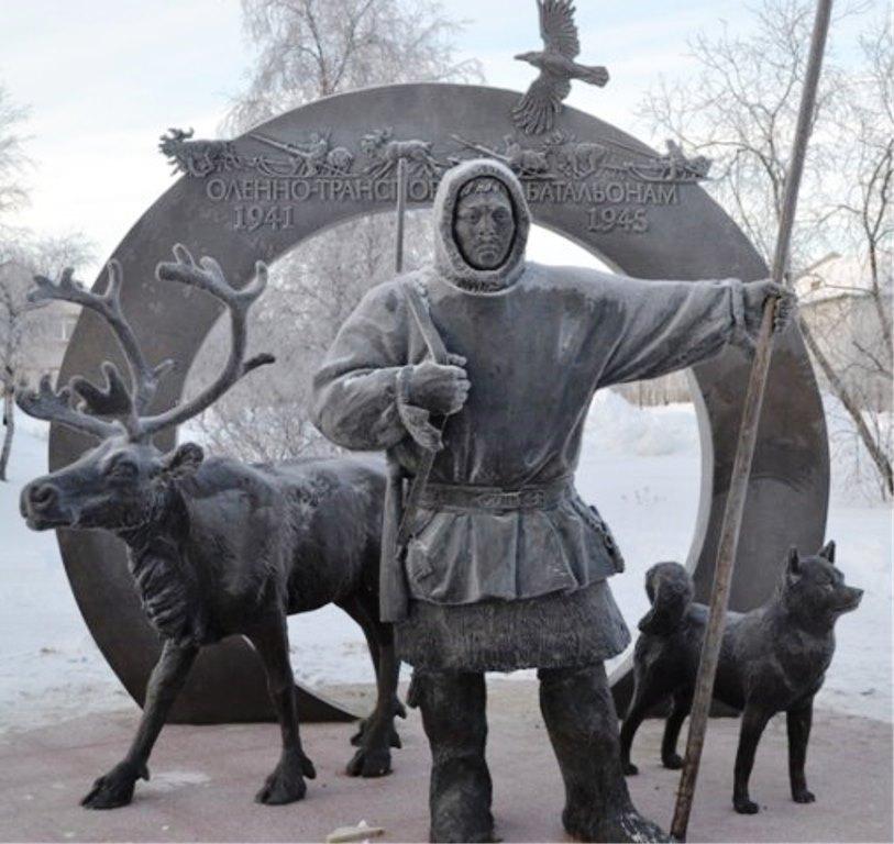 В феврале 2012 года в Нарьян-Маре открыли памятник оленеводам-фронтовикам.