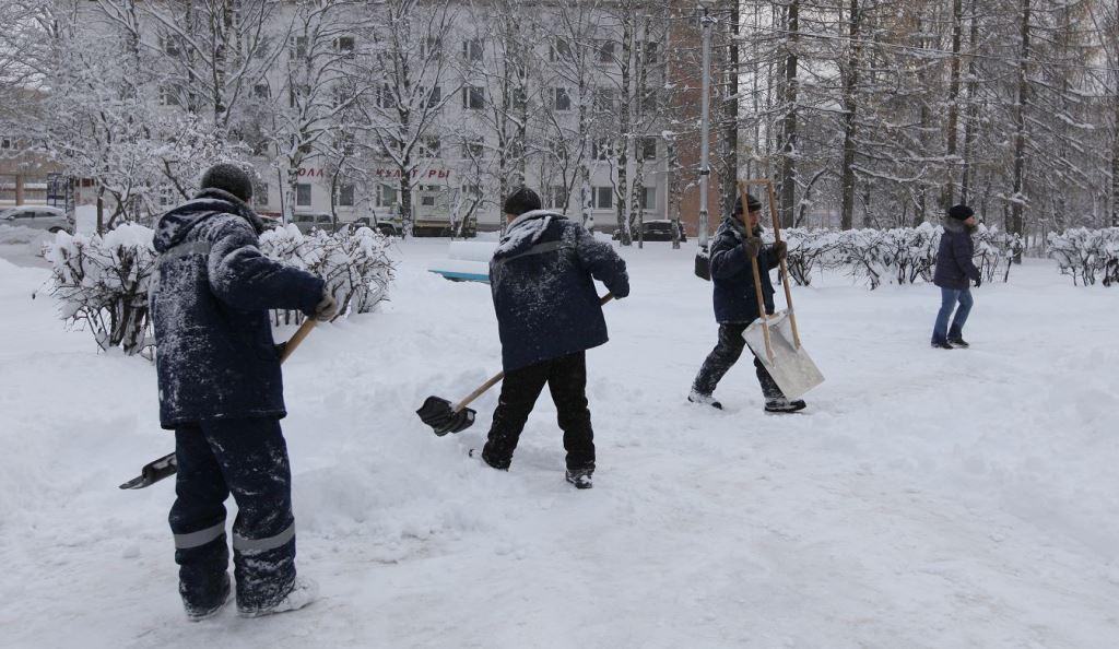 Уборка снега с крыш и территорий